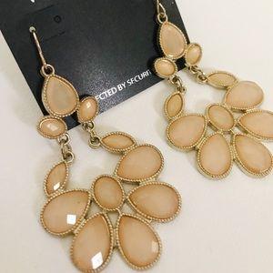 Blush pink statement piece earrings